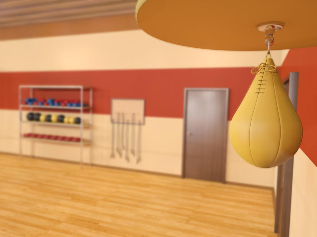 Boxing Gym 05 with DOF by ficdogg on DeviantArt Empty Gym Wallpaper