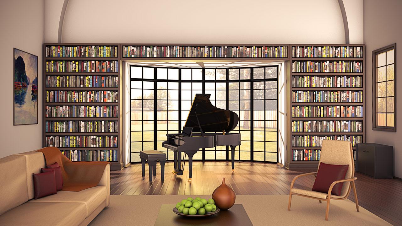 interior in cinema 4d by ficdogg on deviantart. Black Bedroom Furniture Sets. Home Design Ideas
