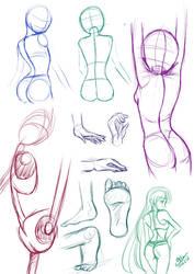 Sketch Practice Part I by Daiyaku