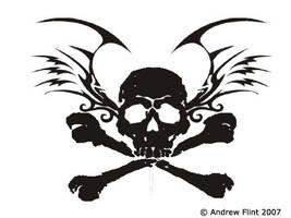 Tattoo Design Skull And Wings by HighVoltageStudios