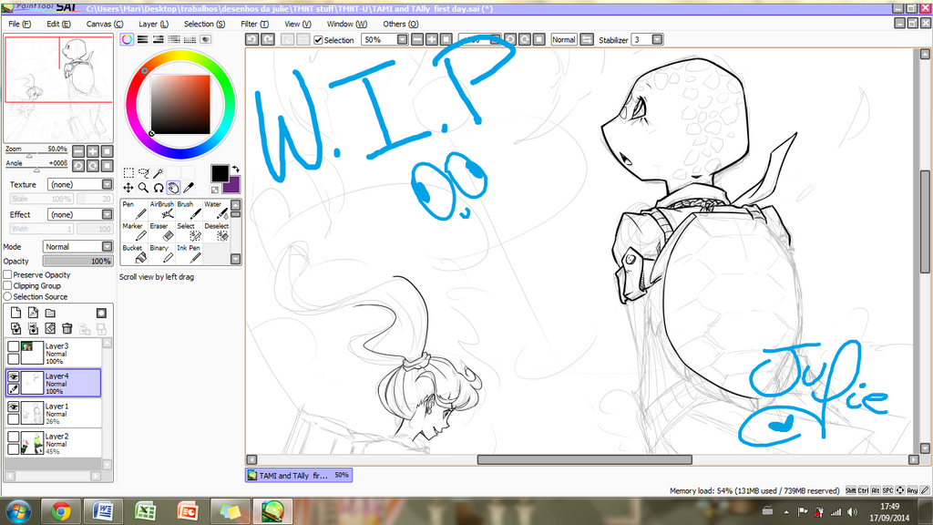 W.I.P. first day at U by juliefofisss