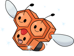 Shiny female Combee - A Shiny Hunters Challenge by TheWhiteScatterbug