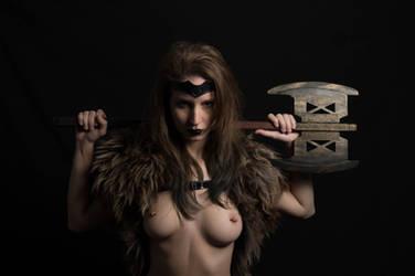 Barbarous with Gimli axe 3 by Valrina