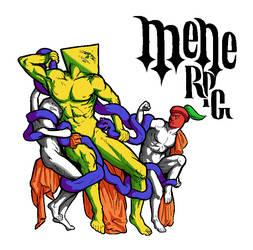 Mene RPG cover sketch
