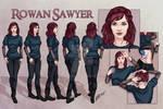 Rowan Sawyer - Character Reference Sheet