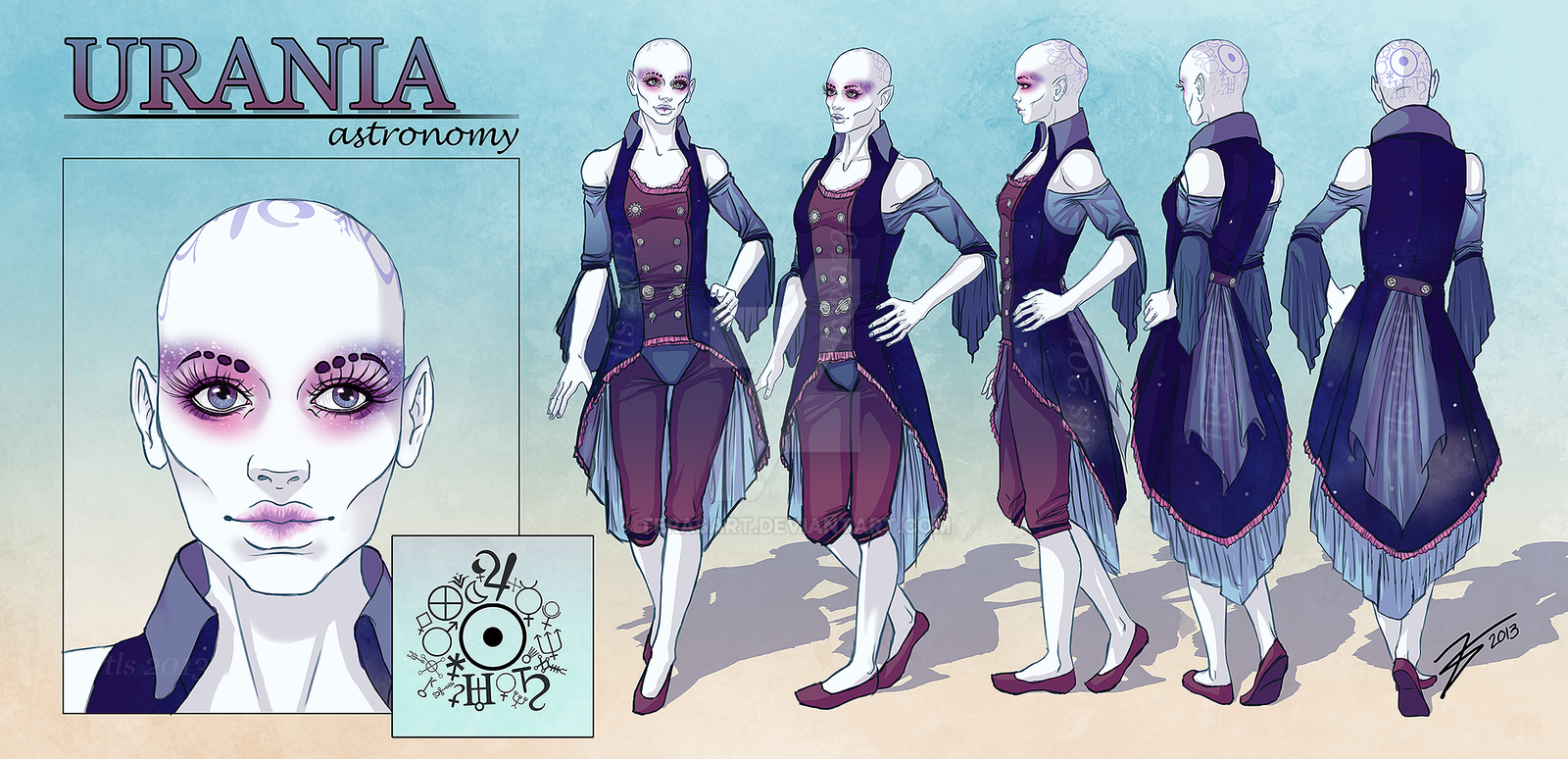 Urania - Character Reference Sheet by tbdoll on DeviantArt