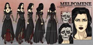 Melpomene - Character Reference Sheet