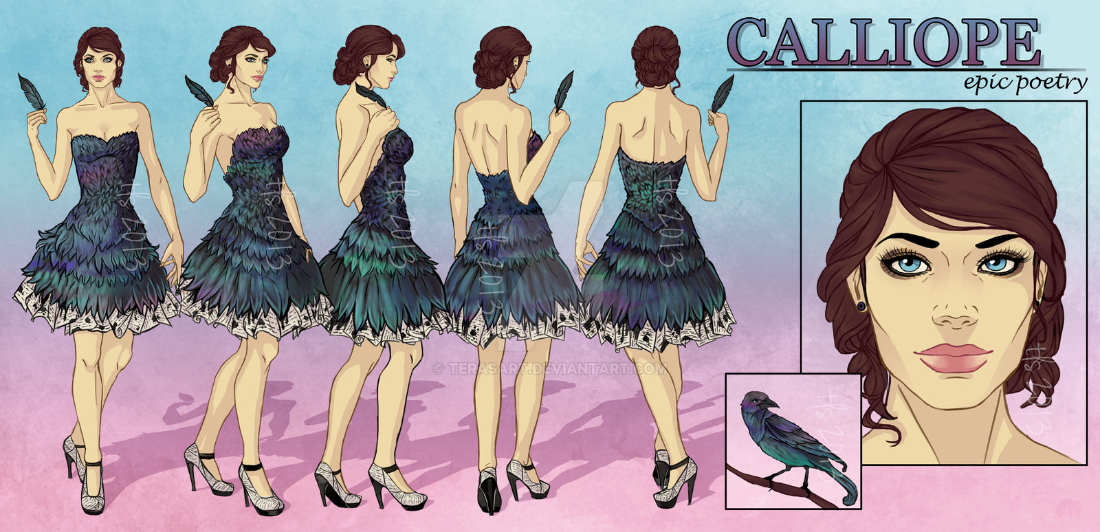 Calliope - Character Reference Sheet