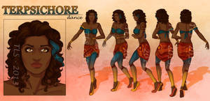 Terpsichore - Character Reference Sheet