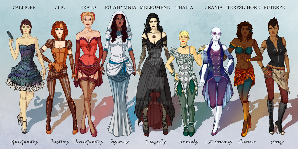 the muses by terasart on deviantart