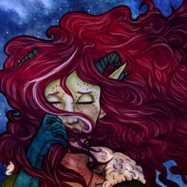 Crimson's New painted portrait by marissippi