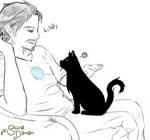 Tony Stark and his Cat