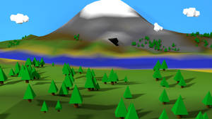 Low Poly Mountainside