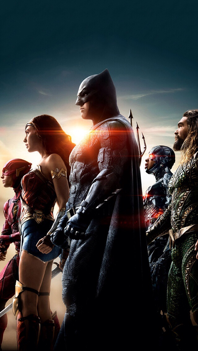 Justice League iPhone 4-inch screen wallpaper by mininudoidu