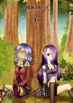 Sheikah OC and Zeva