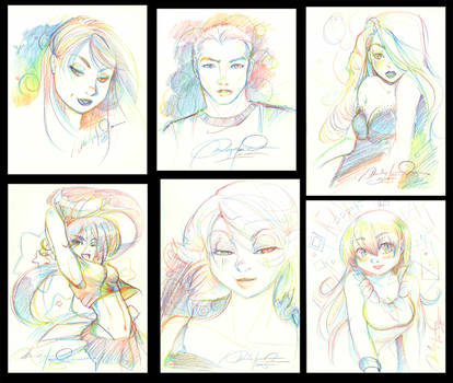 Rainbow Sketches by EidolonStudios