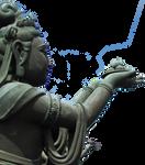Cutout Deity statue