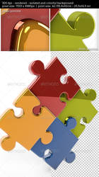 3D Reflective Puzzle Game Pieces by oilusionista-stock