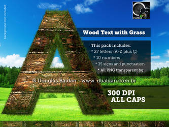 Wood Text With Grass by oilusionista-stock