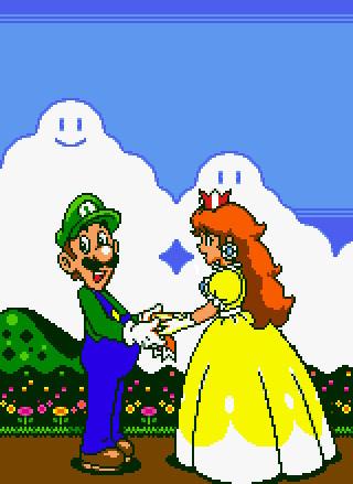 Daisy gives Luigi an award by Luigi-Daisy-Club