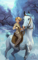 On a White Horse by Suncut