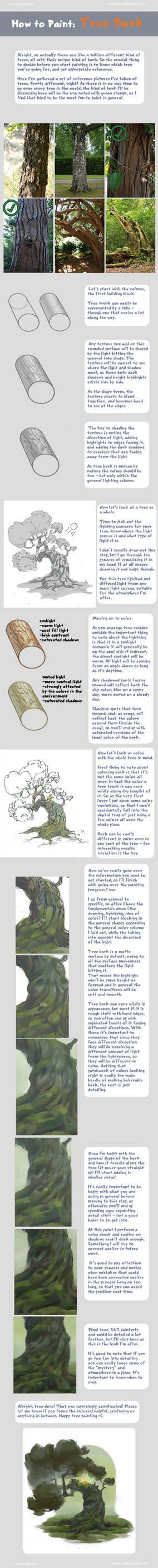 How to Paint Tree Bark