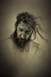 Portrait in charcoal by Helroir