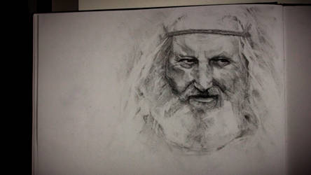 Old man portrait study