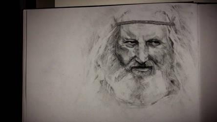 Old man portrait study by Helroir