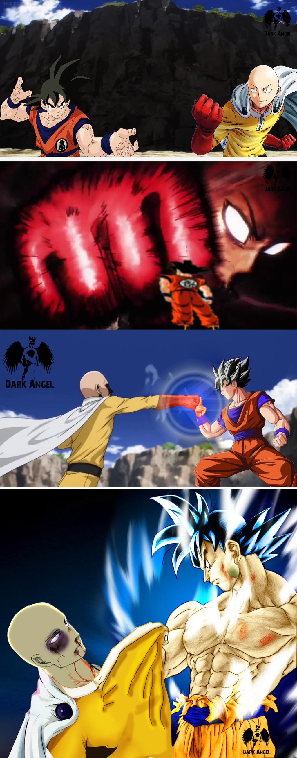 Goku vs One Punch Man by ArjunDarkangel on DeviantArt
