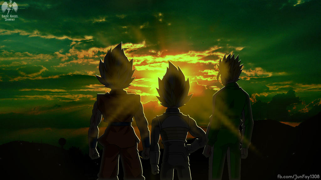 Goku, Vegeta and Gohan Wallpaper by ArjunDarkangel on