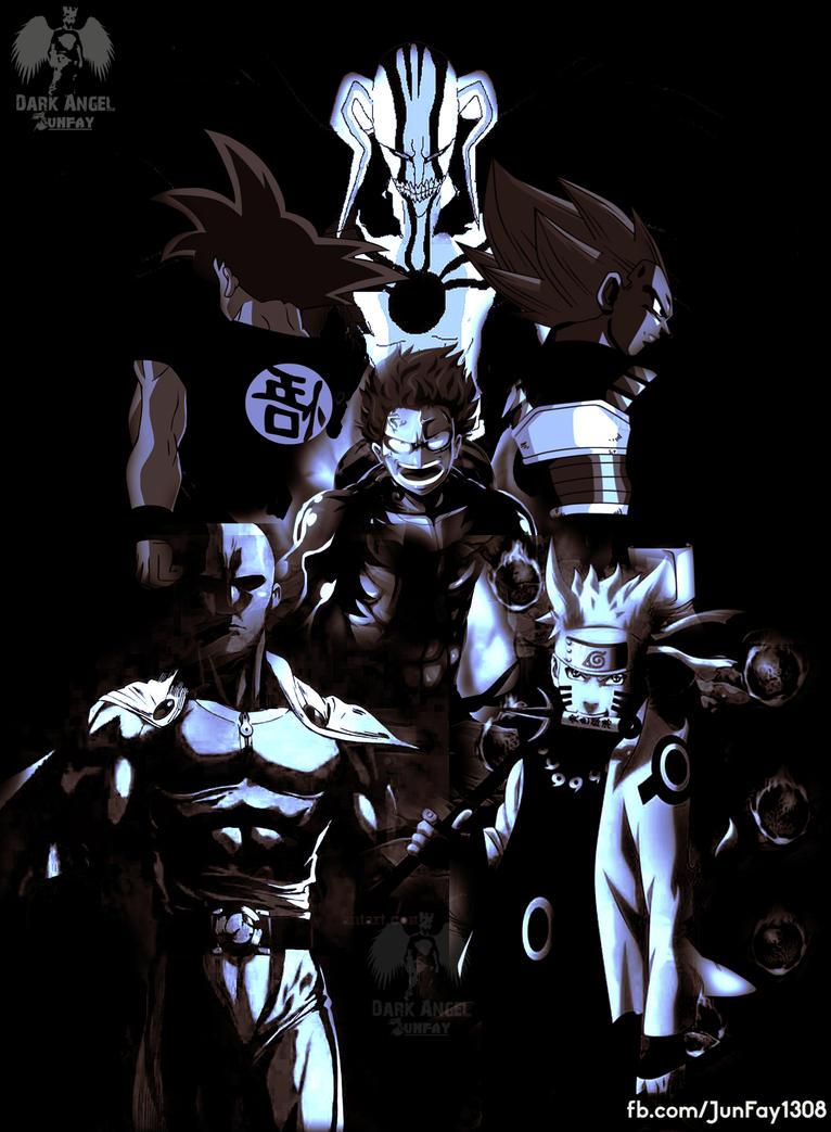 my favourite animes by ArjunDarkangel