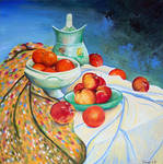 Nature morte (pommes et oranges) by SimonLB