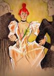La Goulue Arrivant Au Moulin Rouge Avec 2 Femmes