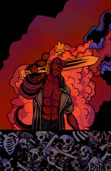 Hellboy by sharkhette