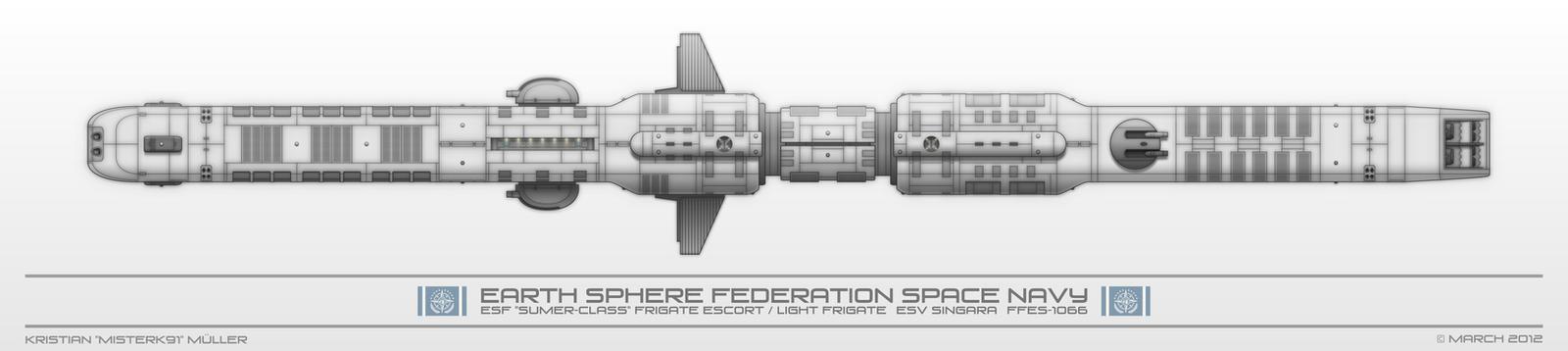 ESF SUMER-CLASS Frigate Escort / Light Frigate by MisterK91