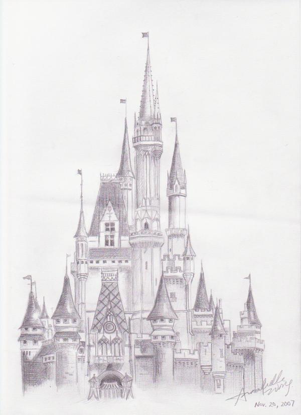 The Disney World Castle By Ellebanna