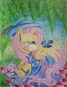 Victorian Fluttershy: Tea for Two
