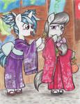 Kimono Ponies: Vinyl Scratch and Octavia