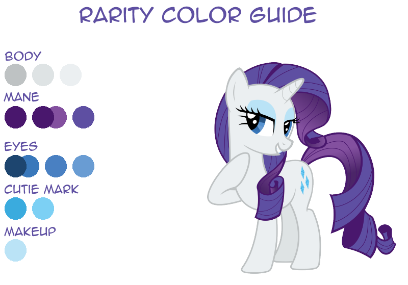 17 Rarity Color Guide By LeafiaTree On DeviantArt