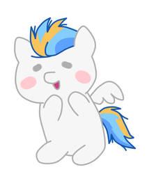 a cute pony in a cute chibi draw style