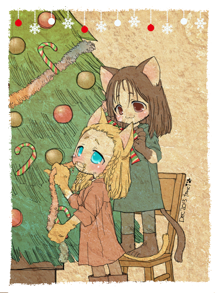Holiday Happenins The_hobbit___doodle_02___christmas_kittens_by_tencinoir-d6zaj8m