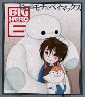 BH6 - Hiro + Mochi + Baymax by tencinoir