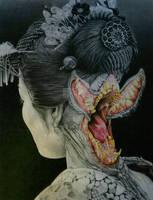 FUTAKUCHI-ONNA (two-mouthed woman)
