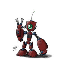 Red Robot by kildeh