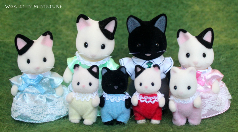 Sylvanian Families Black And White Cats By Worlds In Miniature On Deviantart