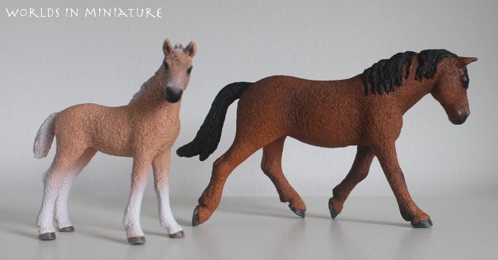 Bashkir mare and foal by Worlds-in-Miniature