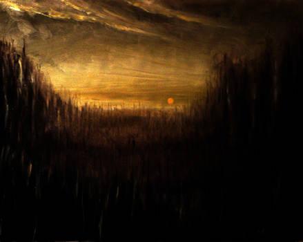 39' Desertic Landscape oil