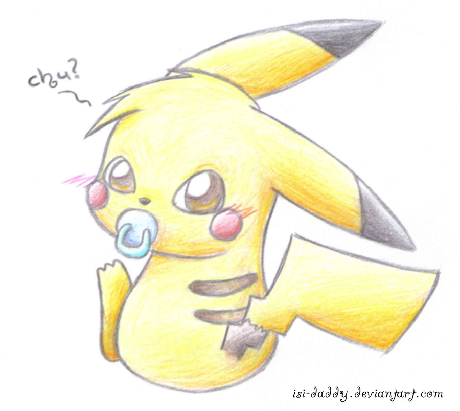 baby pikachu 01 by isi daddy