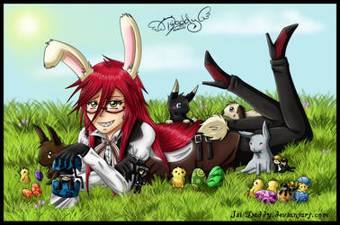 Grell - A Special Easter Bunny by Isi-Daddy